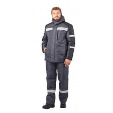 Куртка Роуд утепл. цв. серый-черный