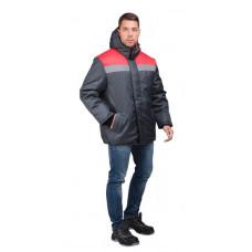 Куртка Райт утепл., цв. серый/красный