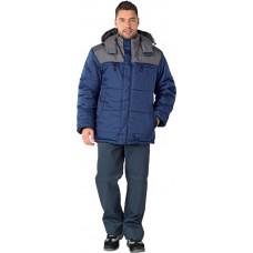 Куртка Шатл утепл. цв. т.синий-серый