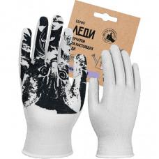 Перчатки Леди Кэт х/б с точечным ПВХ покрытием